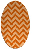 rug #454797 | oval red-orange retro rug