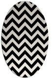 rug #454809 | oval white stripes rug