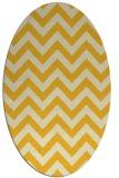 rug #454825 | oval yellow rug