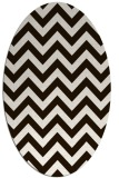 rug #454833 | oval brown stripes rug