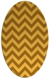rug #454841 | oval light-orange stripes rug