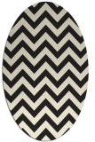 rug #454845 | oval black retro rug