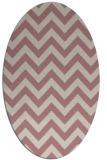 rug #454878 | oval stripes rug