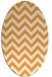rug #454885 | oval white stripes rug