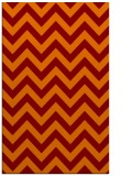 rug #455077 |  orange retro rug