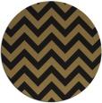 rug #455261 | round mid-brown stripes rug