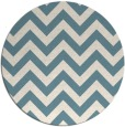 rug #455265 | round white stripes rug
