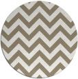 rug #455381 | round mid-brown stripes rug