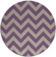 rug #455421 | round purple stripes rug