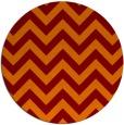 rug #455429   round red-orange stripes rug