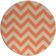 rug #455437 | round orange stripes rug