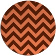 rug #455441 | round red-orange rug