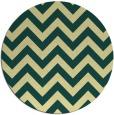 rug #455445 | round yellow stripes rug
