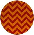 rug #455485 | round orange retro rug