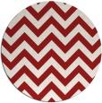 rug #455489 | round red retro rug