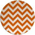 rug #455509 | round red-orange retro rug