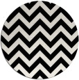 rug #455513   round black stripes rug