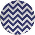 rug #455521 | round blue retro rug