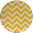 rug #455529 | round yellow stripes rug