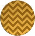 rug #455545 | round light-orange stripes rug