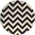 rug #455549 | round black popular rug