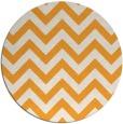 rug #455589 | round light-orange stripes rug