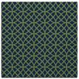 rug #455981 | square blue circles rug