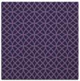 rug #456041 | square purple circles rug