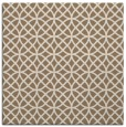 rug #456097 | square mid-brown circles rug