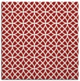 rug #456193 | square red circles rug