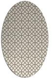 rug #456297 | oval beige circles rug