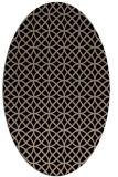rug #456309 | oval beige circles rug