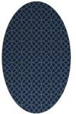 rug #456329 | oval blue-green circles rug
