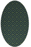 rug #456333 | oval green geometry rug