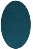rug #456377 | oval blue-green circles rug