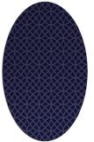 rug #456381 | oval blue-violet circles rug