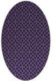 rug #456393 | oval purple circles rug