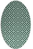 rug #456429 | oval green circles rug