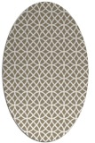rug #456437 | oval white circles rug