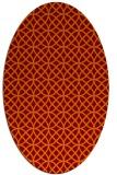 rug #456486 | oval circles rug