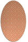 rug #456493 | oval beige circles rug