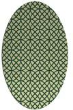 rug #456501 | oval yellow circles rug