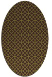 rug #456525 | oval purple geometry rug