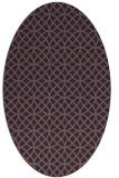 rug #456529 | oval purple circles rug