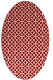 rug #456537 | oval red circles rug