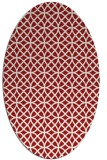 rug #456545 | oval red circles rug