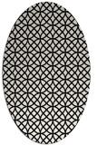 rug #456569 | oval white geometry rug