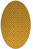 rug #456601 | oval yellow circles rug