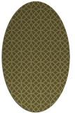 rug #456629 | oval light-green rug