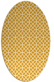 rug #456633 | oval light-orange rug